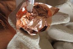 Blattmetall auflegen