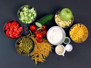 Zutaten-Nudelsalat