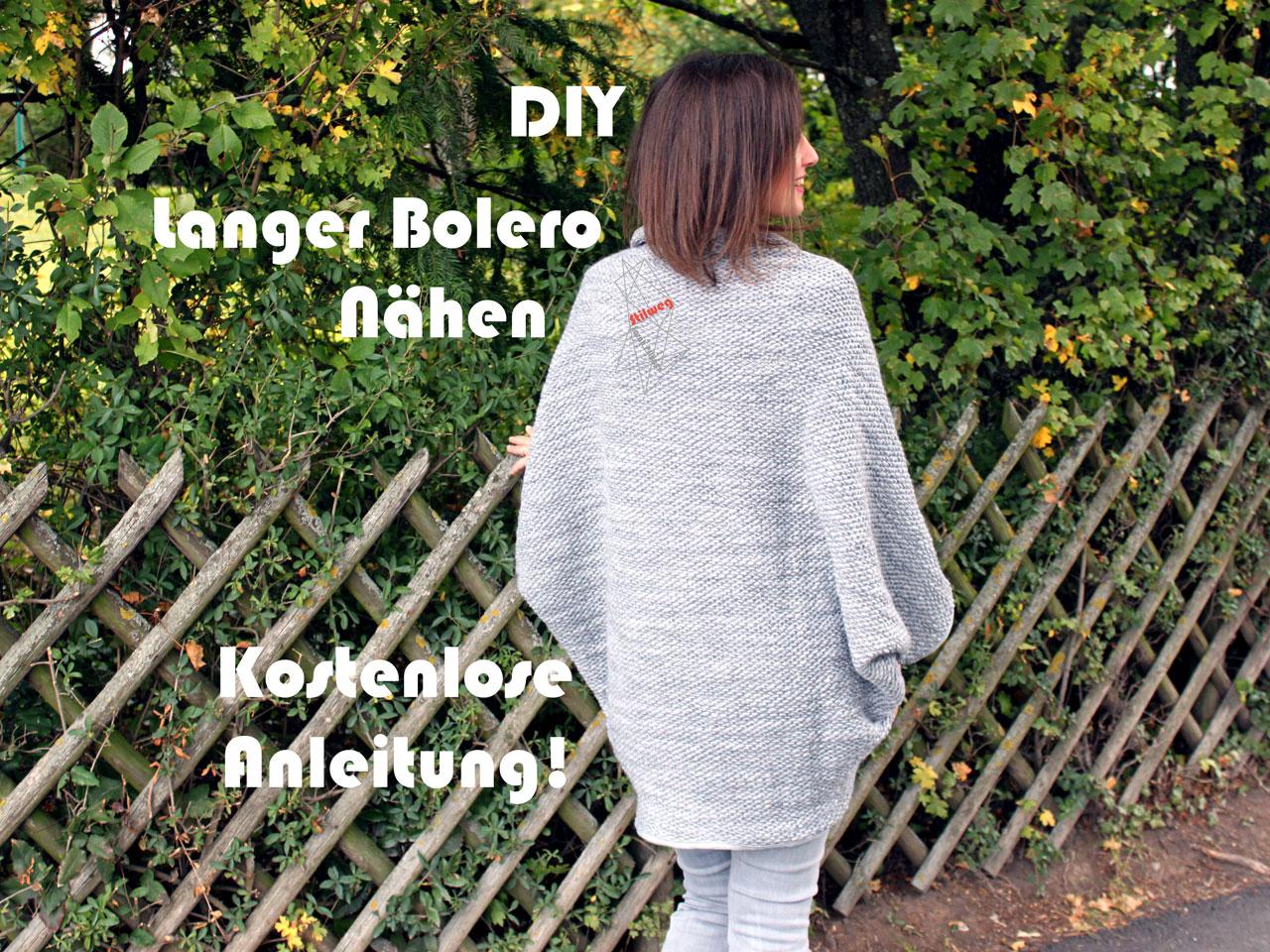 DIY Langer Bolero - Nähen, Kostenloses Schnittmuster mit Anleitung ...