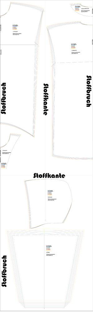 Stilweg Kapuzenkleid Kleid 301 Schnittlayout Gr. 34 - 38