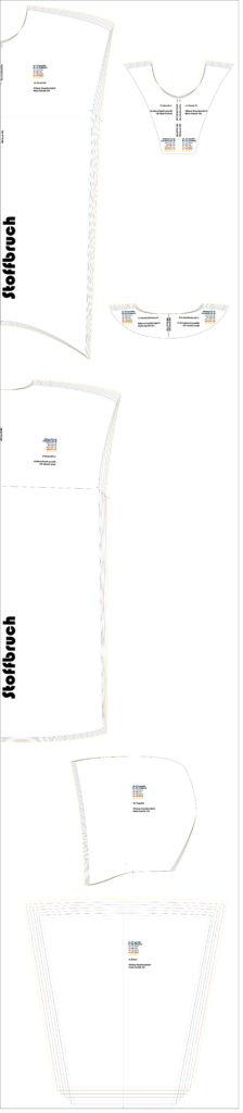 Stilweg Kapuzenkleid Kleid 301 Schnittlayout Gr.40 - 46