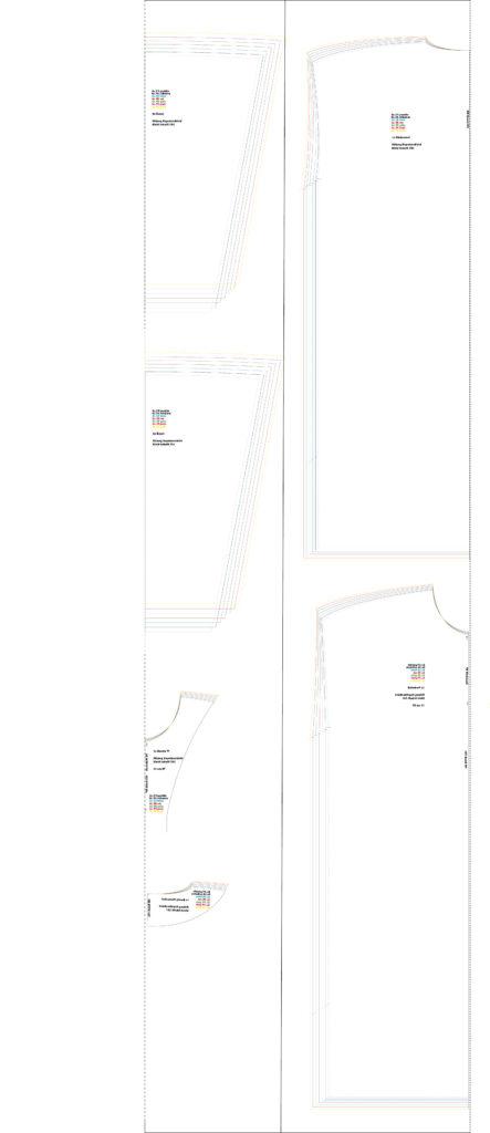 Kleid Schnitt 302 - Ab Gr 42 Layout Zuschnitt