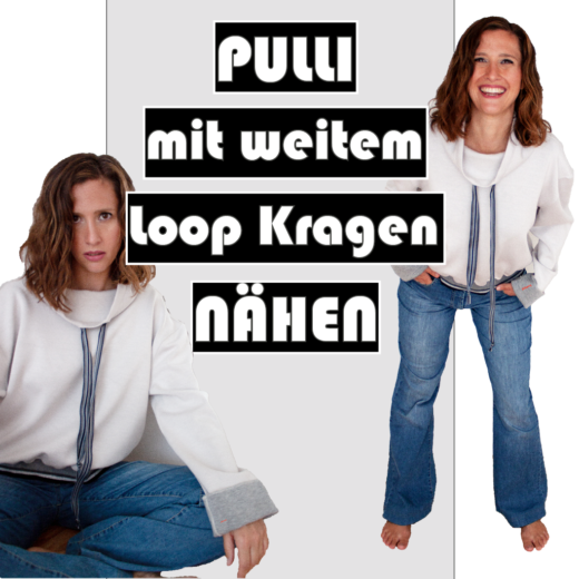 Thumbnail Stilweg Pulli mit weitem Loop Kragen Schnitt 206